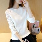 Lace Panel Sweater 1596