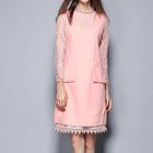 Set: Long-Sleeve Lace Dress + Knit Sleeveless Dress 1596