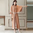 Set: Lace-Trim Cape Top + Pants 1596
