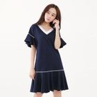 Short-Sleeve Ruffled Dress 1596