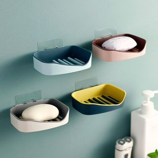 Image of 2 Layer Plastic Soap Wall Holder