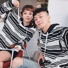 Couple Matching Striped Hoodie 1596