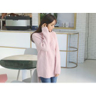 Turtle-Neck Ribbed Long Sweater 1596