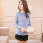 Boatneck Knit Top 1596