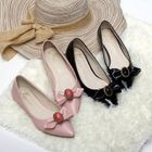 Embellished Bow Pointy Flats Pink - 37 от YesStyle.com INT