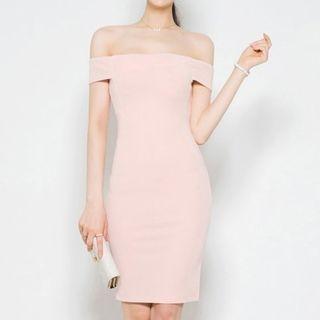 Off-Shoulder Bodycon Dress 1060827274