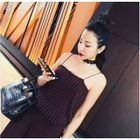 Striped Knit Camisole / Ribbed Pants 1596