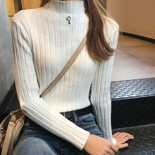 Ribbed Long-Sleeve Knit Top 1063296520