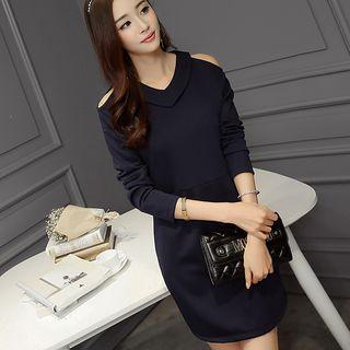 Cutout Shoulder Long-Sleeve Dress 1049900455