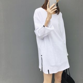 Long Sleeve Side Slit T-Shirt 1055219629