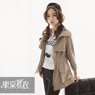 smocked-waist-zip-jacket