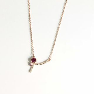 Rhinestone | Necklace | Sterling | Pendant | Silver | Rose | Gold | Size | One