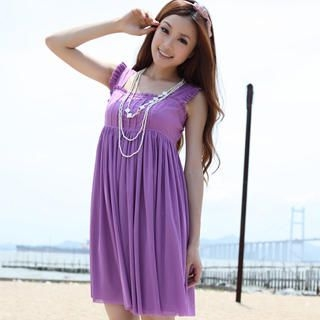 Picture of 19th Street Sleeveless Frilled Empire Dress 1023030745 (19th Street Dresses, Womens Dresses, China Dresses, Sleeveless Dresses)