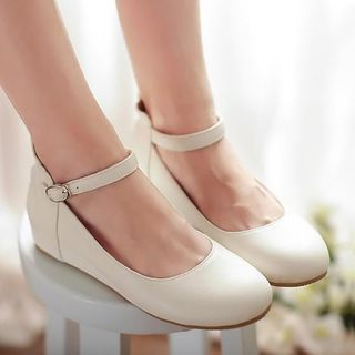 Image of Ankle Strap Hidden Wedge Flats