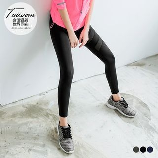 Paneled Mesh Active Leggings 1052916779
