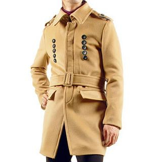 Buy Purplow Fly Front Belted Coat 1005162780