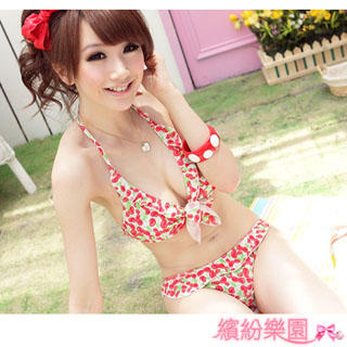 Buy Wonderland Cherry Print Bikini Set 1022843679