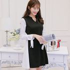 Long-Sleeve Chiffon A-line Dress 1596