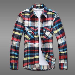 Dual-Pocket Plaid Shirt