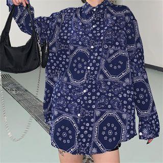 Sapphire | Shirt | Print | Blue | Size | One