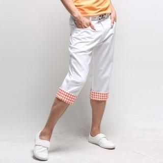 Buy Style YOURS Check Roll-Up Hem Calf-Length Pants 1022731589