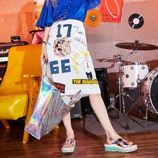 ELF SACK Printed A-Line Skirt