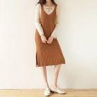 Midi Knit Pinafore Dress 1596