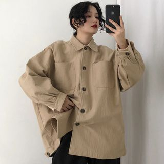 Image of Buttoned Cargo Jacket