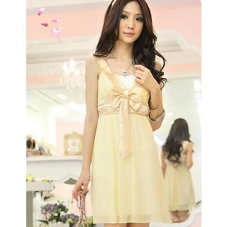 "Buy Tokyo Fashion Sleeveless ""Bow"" Chiffon Empire Dress 1022972774"