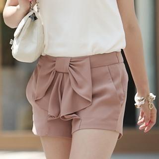 Buy MoDN Bow-Front Chiffon Shorts 1023070961