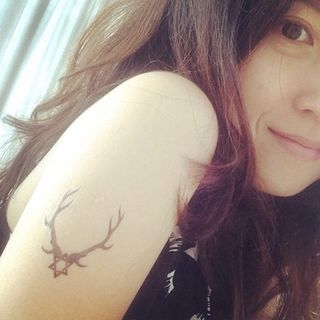 Image of Antler Waterproof Temporary Tattoo