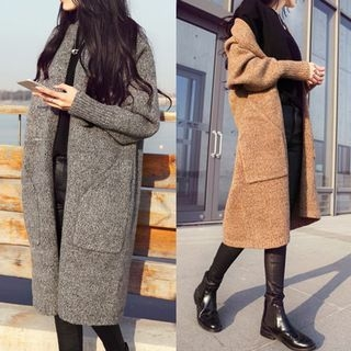 Open-Front Long Cardigan 1061453449