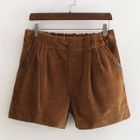 Corduroy Wide Leg Shorts 1596