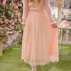 Lace Long-Sleeve Dress 1596