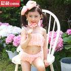 Kids Set: Ruffle Bikini + Swim Cap 1596