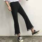 Cropped Boot-Cut Pants 1596