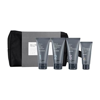 The Face Shop - The Gentle For Men All-In-One Kit: All-In-One Wash 50ml + Mild Foaming Cleanser 50ml + All-In-One Essence 50ml + Oil Absorbing Sun Cream SPF50+ PA+++ 30ml 4pcs 1064101724