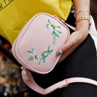 Floral Embroidered Crossbody Bag
