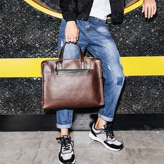 Faux Leather Briefcase 1062248983