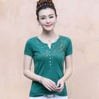 Sequined Short-Sleeve T-Shirt 1596