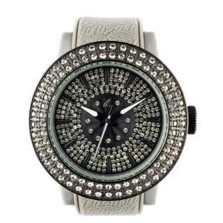 Diamond Lens Glass Gray Strap Watch 1028072019