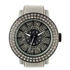 Diamond Lens Glass Gray Strap Watch 1596