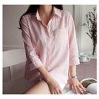 3/4-Sleeve Pocket-Front Shirt 1596