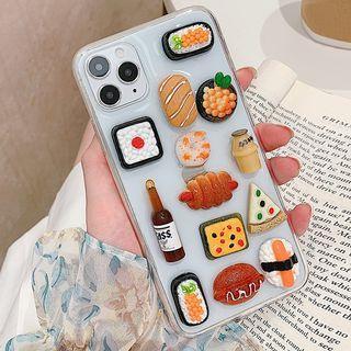 Image of 3D Miniature Food & Drink Transparent Phone Case - iPhone 11 Pro Max / 11 Pro / 11 / SE / XS Max / XS / XR / X / 8 / 8 Plus / 7 / 7 Plus / 6s / 6s Plus