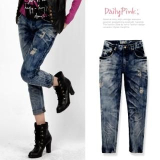 Buy Daily Pink Washed Jeans 1022317760