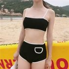 Contrast Trim High-Waist Bikini 1596