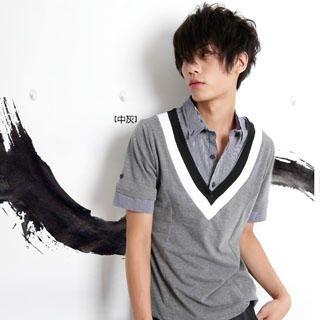 Buy SERUSH Inset Shirt V-Neck Top 1023020521
