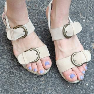 Buy Drama Buckled Wedge Sandals 1022840657