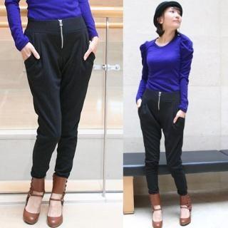Picture of Blingstyle Zipper-Accent Pants 1021918178 (Blingstyle Pants, South Korea Pants)