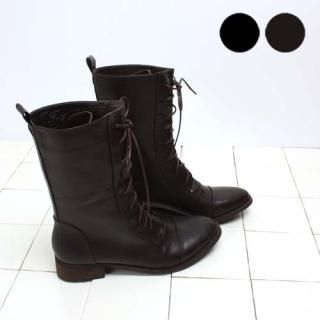 Buy Woorisin Lace-Up Faux-Leather Boots 1021539920